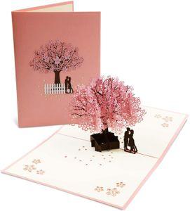Hochzeitskarte 3D, Hochzeitskarten Glückwunsch Glückwunschkarte Hochzeit Valentinstag Karte Hochzeitsgeschenke für Brautpaar Pop Up Grußkarten mit Umschlag— QingShop