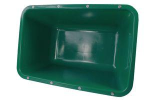 200 Liter 2te-Wahl (Fehlfarben) Mörtelkübel mit Verstärkung(grün)