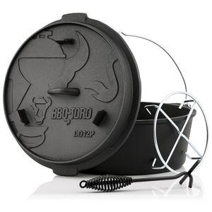 BBQ-Toro Dutch Oven DO12PX, 13,6 L Premium Gusseisen Kochtopf Gusstopf