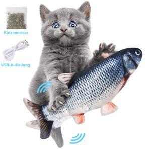 1 Stück Elektrisches Fish Katzenspielzeug USB-Ladesimulation Fisch Katzenspielzeug