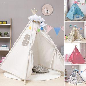 Kinderzelt Tipi Teepee Indianerzelt Kinder Spielzelt Zelt (ohne LED Sternenlicht) Typ: Weiß
