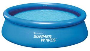 Summer Waves Quick-Up-Pool Ø 300cm inkl. Kartuschen-Filterpumpe und Reparaturflicken