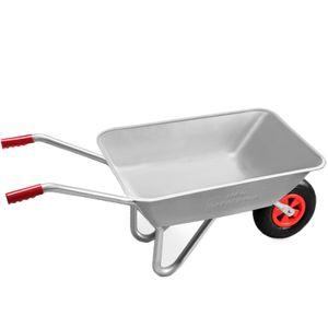 Gardebruk Schubkarre 80L 150kg Belastbarkeit verzinkter Stahlrohrrahmen Bauschubkarre Gartenkarre Schiebkarre