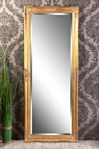 Wandspiegel antik gold Barock Leandra 150 x 60 cm