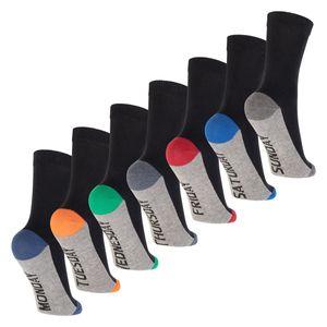 Footstar Kinder Wochentage Socken (7 Paar) Bunte Socken für Jungen und Mädchen - Sport Colors 35-38