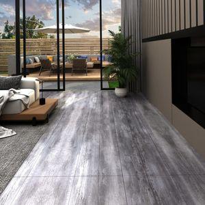 anlund PVC-Laminat-Dielen 5,02 m² 2mm Selbstklebend Mattgrau Holzoptik