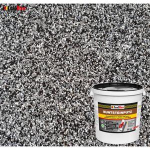 Isolbau Mosaikputz Buntsteinputz BP 30 (schwarz, grau, weiss) 25 kg Fertigputz