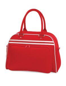 Retro Bowling Tasche   44 x 31 x 25 cm - Farbe: Classic Red/White - Größe: 44 x 31 x 25 cm