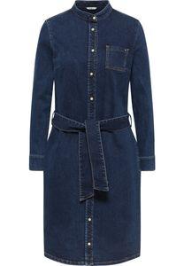 MUSTANG Damen Kleid Jeanskleid Slim Fit Farbe: mittelblau Größe: 38