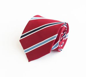 Schlips Krawatte Krawatten Binder 8cm rot blau weiß gestreift Fabio Farini