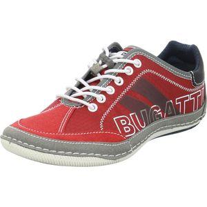 bugatti Herren Sneaker Sneaker Low Synthetikkombination rot 44