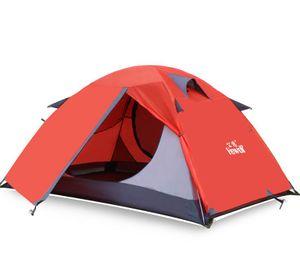 Outdoor-Camping-Zelt zweischichtigen ultraleichte 2-Personen-Zelt -(rot,)