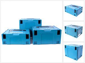 Makita Makpac Set Gr. 2 + Gr. 3 + Gr. 4 Transportbox und Werkzeugkiste