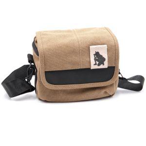 vhbw Kamera-Tasche passend für Panasonic Lumix DC-TZ91, DMC-FZ1000, DMC-FZ2000, DMC-FZ300 Canvas braun, grau
