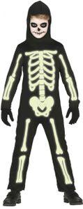 Fiestas Guirca kostüm skelett junior polyester schwarz mt 5/6 jahre