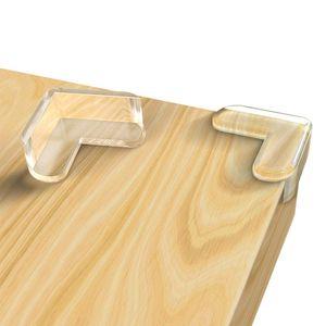 Eckenschutz und Kantenschutz transparent aus Silikon für Tisch und Möbelecken - Stoßschutz für Babys und Kinder - 3 M Kleber (24 Stück)