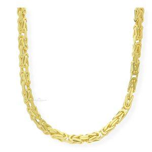 JuwelmaLux Königskette 925/000 Sterling Silber Goldplattiert JL18-05-0274 45 cm