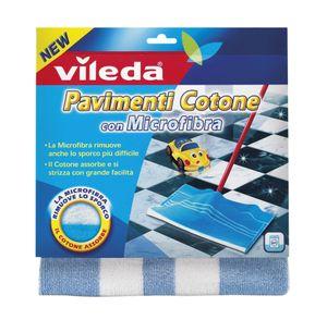 Vileda 137432, Mop wet pads, Blau, Weiß, Baumwolle, Mikrofaser, 1 Stück(e), 500 mm, 500 mm