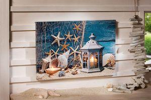 LED-Bild 'Maritim' Wandschmuck wohnen Home,schöne Leinwand, Beleuchtung,Wanddeko