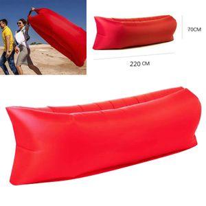 1 Stück Camping aufblasbare Liege Farbe rot