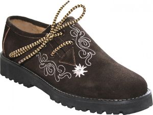 Damen Haferlschuhe Trachtenschuhe für Trachten lederhosen dunkelbraun, Größe:36