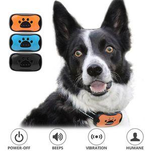 1x Anti Bell Hundehalsband mit Ton und Vibration ohne Schock Hund Anti Rinde Kragen Wasserdicht