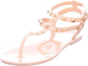 BUFFALO Damen Sandale Sandalette Sommerschuhe beige 161047 : 39