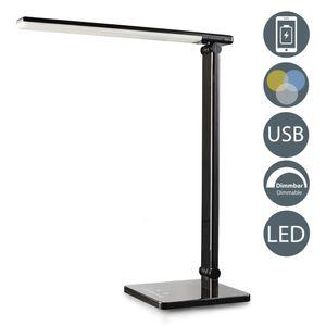 LED Schreibtischleuchte dimmbar Nachttisch-Leuchte faltbar inkl. 5W LED-Modul 7 Helligkeitsstufen 5 Farbtemperaturen Touch Control 500 Lumen B.K.Licht
