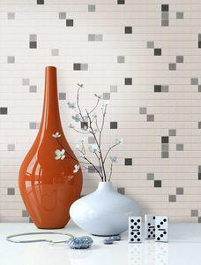 Fliesentapete   Weiß Papier Natur Modern Loft Industrial Mauer Fliesen  Cubic
