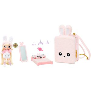 MGA Entertainment 569732E7C Na! Na! Na! Surprise 3-in -1 BackPack Bedroom Playset- Pink