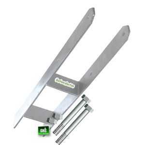 H-Anker 141 x 600 mm für 14 cm Pfosten mit 2 Schrauben 12x170 mm