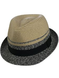 Trilby Hut in beige/schwarz, Kopfgröße:L, Farben:beige