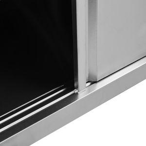 vidaXL Arbeitsschrank mit Schiebetüren 120×50×95 cm Edelstahl