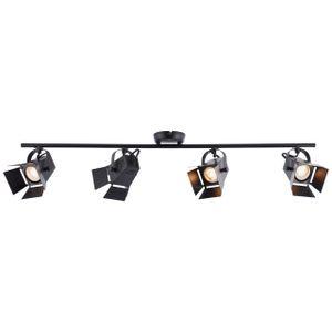 BRILLIANT MOVIE LED Deckenstrahler 84 cm Metall Schwarz matt 4-Flammig
