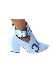 Damenmode Kurze Stiefel Nieten Einfarbige Verschleißfeste Spitze Reißverschlussstiefel,Farbe:Weiß,Größe:40