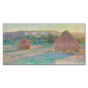 Coloray Bild aus Leinwand 140x70 Leinwand Dekoration - Monet Heuschober