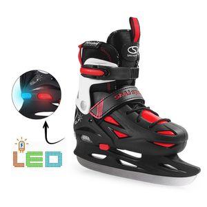 Kinder Schlittschuhe SMJ Sport ICE BLACK LED-Beleuchtung Gr 32-35 verstellbar