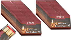 Streichhölzer 39 Schachteln Feuer/Holz Zündholzschachtel Zündhölzer 1482 Stück Sicherheitszündhölzer, 45mm