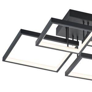 Trio LED Deckenleuchte Sorrento in Schwarz-Matt und Weiß 24w 2400lm