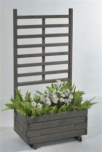 Blumenkasten mit Rankgitter Gmunden 68x37x136cm vintage-grau