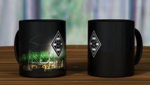 "Borussia Mönchengladbach Magic Mug ""Borussia Park"" schwarz"