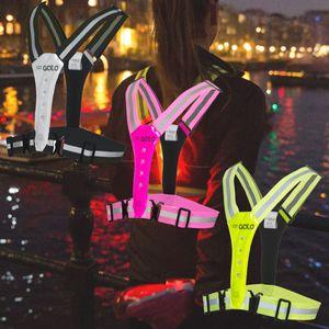 Gato LED Safer Sport Vest Sicherheitsweste, Farbe:Gelb