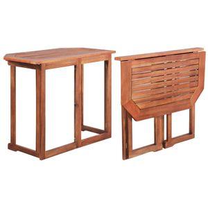 MÖBEL Garten-Bartisch CLORIS Gartentisch Esstisch Tisch Balkon 90x50x75 cm Akazie Massivholz #DE4086
