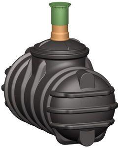 Abwasser Sammelgrube begehbar mit DIBt 1.000L mit Tankdom GRAF 102008