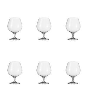 Leonardo Cheers Cognacschwenker 6er Set, Cognacglas, Schwenker, Brandy Glas, Weinbrand, 97833