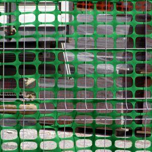 Absperrzaun 1,2m x 25m Bauzaun Schutznetz Zaun Baustellenzaun 120g/m² in grün