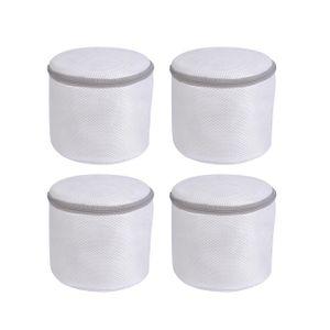 RAIKOU BH Wäschenetz Wäschesäcke, BH Wäschebeutel 4 Stück Set mit Reißverschluss für Waschmaschine und Trockner, Aufbewahrung und Reise