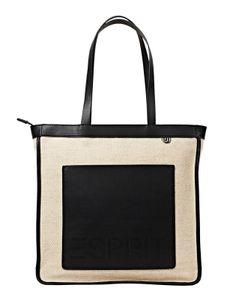 Esprit Damen Handtasche Tasche Dahlia Shopper Schwarz 040EA1O321-001