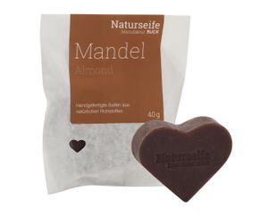 RUCK® Naturseife Herzform 40g - MANDEL