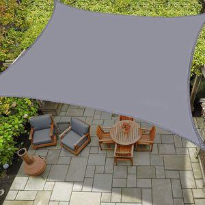 Sonnensegel Wasserdicht, Sonnenschutz Schatten Plane UV-Block für Garten Terrasse Straßenrestaurant,4x4m,Grau